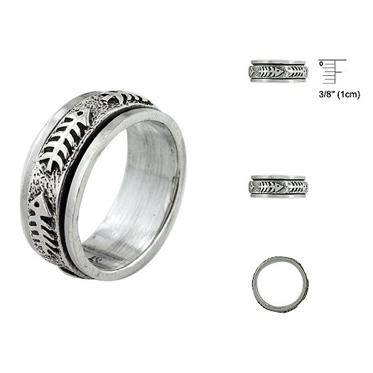 Unisex Plain Silver Rings With 925 Silver