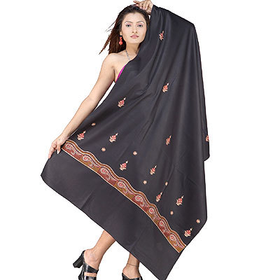 Embroidered Shawls & Stoles - Indian Shawls Exporter & Supplier