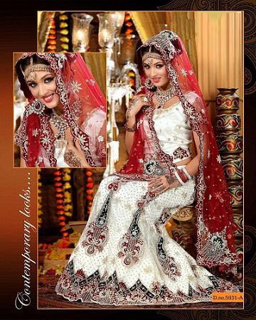 White Wedding Lehenga – White Color Bridal Lehenga Dress