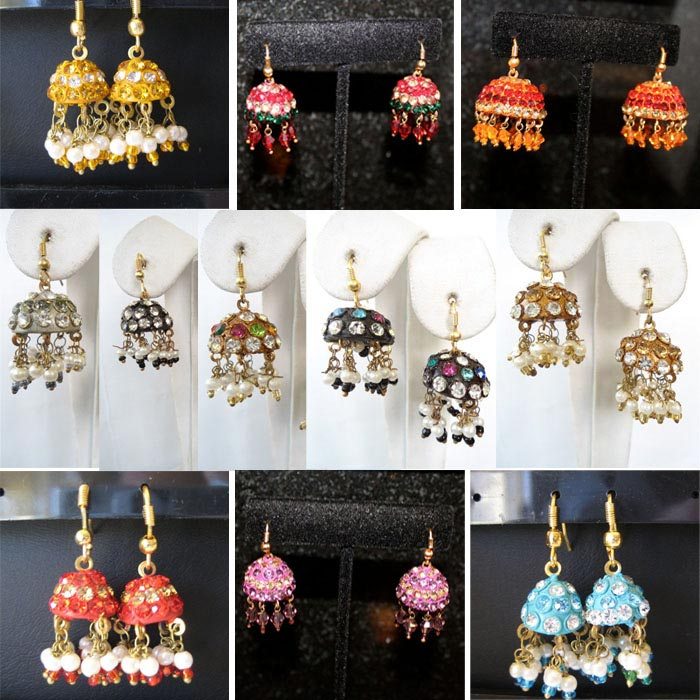 Lac Earrings Manufacturer - Lac Earrings Wholesaler 12 Pcs Lot