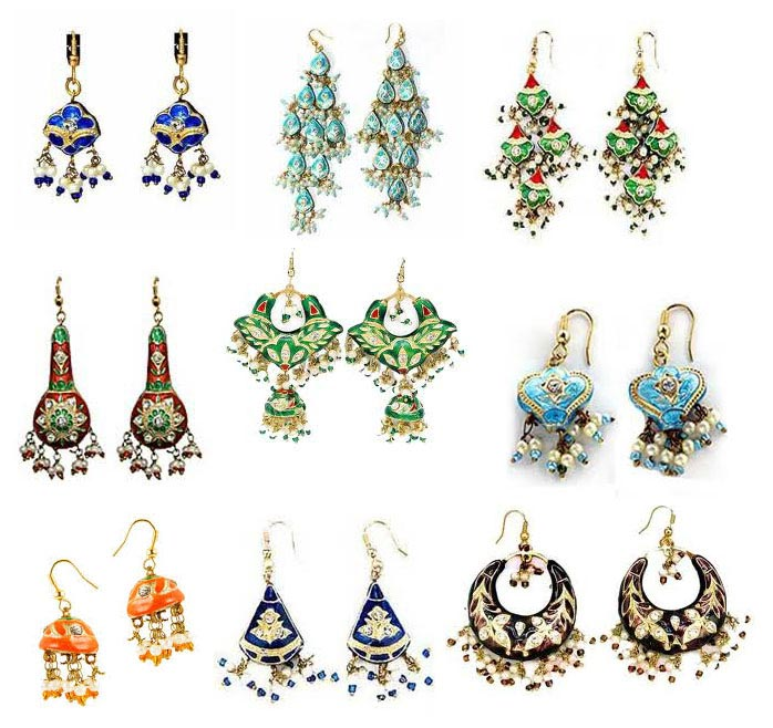 Lakh/ Lac Earrings Wholesale Lot - Wholesale Lakh/ Lac Earrings